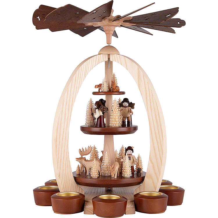 3 - Tier Pyramid In the Forest  -  Exclusive  -  44cm / 17.3 inch