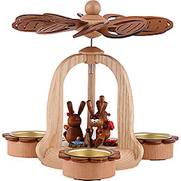 1 - Tier Easter Pyramid with Bunnies 18cm / 7.1 inch