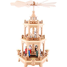 3 - Tier Pyramid  -  Nativity, Colored Figures  -  42cm / 16.5 inch