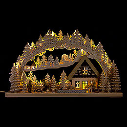 3D Double Arch  -  Lumberjack with White Frost  -  72x43cm / 28x17 inch