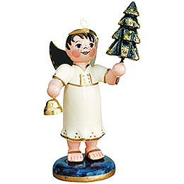 Angel Boy with Christmas Tree  -  6,5cm / 2,5 inch