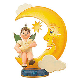 Angel Boy with Moon and Sheep  -  20cm / 8 inch