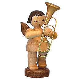Angel with Baritone  -  Natural Colors  -  Standing  -  6cm / 2,3 inch