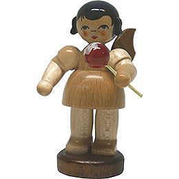 Angel with Candied Apple  -  Natural  -  Standing  -  6cm / 2.4 inch