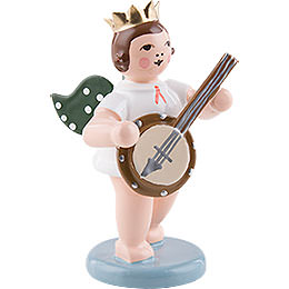 Angel with Crown and Banjo  -  6,5cm / 2.5 inch