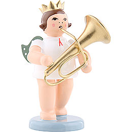 Angel with Crown and Tuba  -  6,5cm / 2.5 inch