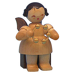 Angel with Jingle Ring  -  Natural Colors  -  Sitting  -  5cm / 2 inch