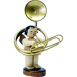 Angel with Sousaphone  -  Natural Colors  -  Standing  -  6cm / 2.3 inch