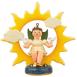 Angel with Sun and Doves  -  20cm / 8 inch