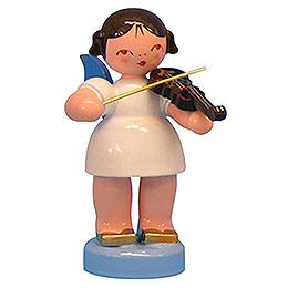 Angel with Violin  -  Blue Wings  -  Standing  -  6cm / 2,3 inch