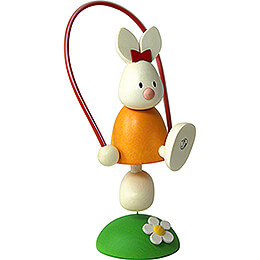 Bunny Emma with Skipping Rope  -  7cm / 2.8 inch