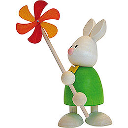 Bunny Max with Wind Mill  -  9cm / 3.5 inch