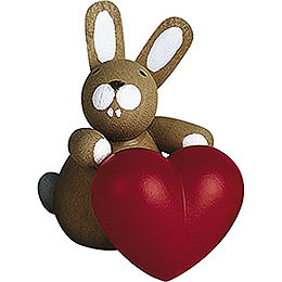 Bunny with Heart  -  3cm / 1.2 inch