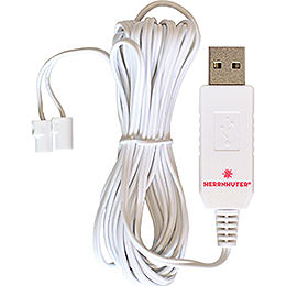 Cable for USB Power Supply, 2.5m White