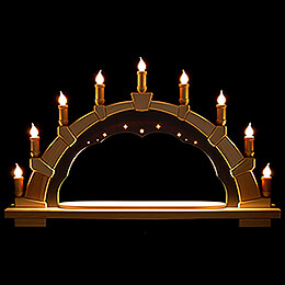 Candle Arch  -  Anthracite Interior  -  without Figurines  -  66x40cm / 26x15.7 inch