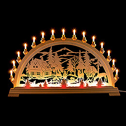 Candle Arch  -  Forester's House with Deer  -  84x49cm / 33.1x19.3 inch