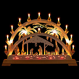 Candle Arch  -  Palm Tree  -  Nativity with Shepherd  -  73x53cm / 28.7x20.9 inch