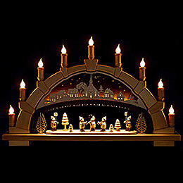 Candle Arch  -  Seiffen Church with Carolers  -  66x40cm / 26x15.7 inch