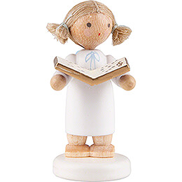 Flax Haired Angel Little with Music Book  -  5cm / 2 inch