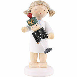 Flax Haired Angel with Miner  -  5cm / 2 inch