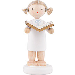 Flax Haired Angel with Music Book  -  5cm / 2 inch