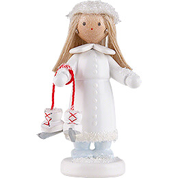 "Flax Haired Children ""Ice Princess""  -  5cm / 2 inch"
