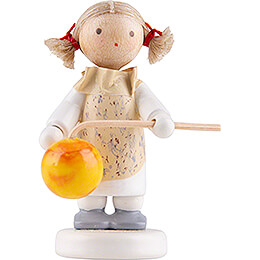 Flax Haired Children Little Girl with Lampion  -  Edition Flade & Friends  -  5cm / 2 inch