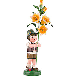 Flower Child Boy with Lily  -  24cm / 9,5 inch