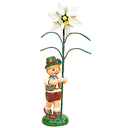 Flower Child Boy with Precious White  -  11cm / 4,3 inch