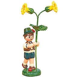Flower Child Boy with Primrose  -  11cm / 4,3 inch