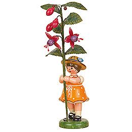 Flower Child Girl with Fuchsia  -  17cm / 7 inch