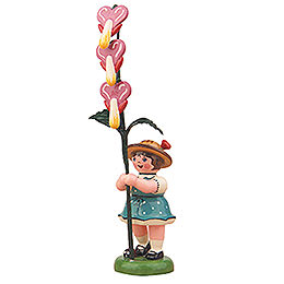 Flower Girl with Bleeding Heart  -  11cm / 4,3 inch