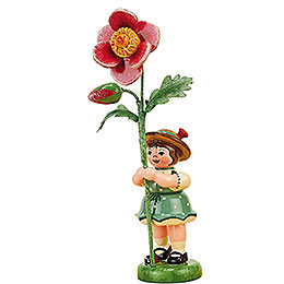 Flower Girl with Dog Rose  -  11cm / 4,3 inch