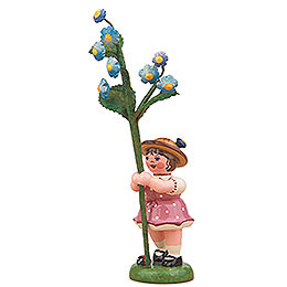 Flower Girl with Forget - Me - Not  -  11cm / 4,3 inch