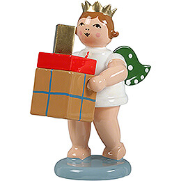 Gift Angel with Crown and Parcels  -  6,5cm / 2.6 inch