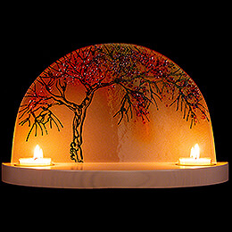 """Glass Arch """"Apple Tree in Autumn""""  -  without  Figurines  -  28x17cm / 11x6.7 inch"""