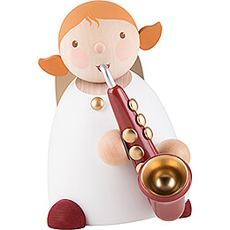 Guardian Angel with Saxophone Red  -  16cm / 6.3 inch
