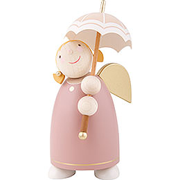 Guardian Angel with Umbrella, Rose Wood  -  8cm / 3.1 inch