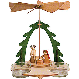 Handicraft Set  -  1 - Tier Pyramid  -  Nativity  -  18cm / 7.1 inch