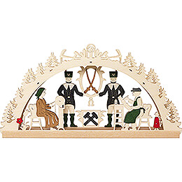 Handicraft Set  -  Candle Arch  -  Ore Mountains  -  40x20cm / 15.7x7.9 inch