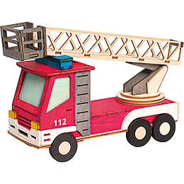 Handicraft Set  -  Smoker  -  Fire Engine  -  15cm / 5.9 inch