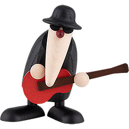 Herr Loose at the Guitar (red)  -  9cm / 3.5 inch