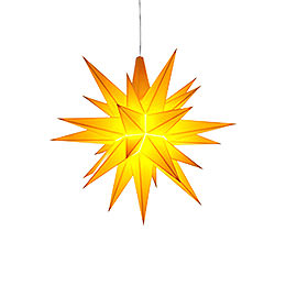 Herrnhuter Moravian Star A1e Yellow Plastic  -  13cm/5.1 inch