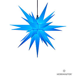 Herrnhuter Moravian Star A7 Blue Plastic  -  68cm/27 inch