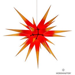 Herrnhuter Moravian Star I8 Yellow with Red Core  -  80cm/31 inch