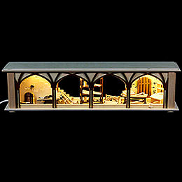 Illuminated Stand Carpenter's Storage for Candle Arches  -  50x12x10cm / 20x5x4 inch