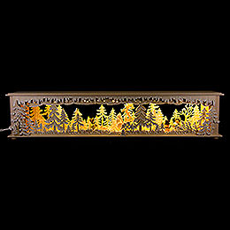 Illuminated Stand Forest Clearing with White Frost and Winter Children for Candle Arches  -  70x15cm / 27.6x5.9 inch