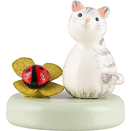Kitten and Lady Bug  -  2,2cm / 0.9 inch