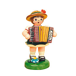 Lampion Girl with Accordion  -  8cm / 3 inch