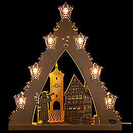 "Light Triangle ""Rothenburg ob der Tauber""  -  LED  -  38x43x4,5cm / 15x17x1.8 inch"